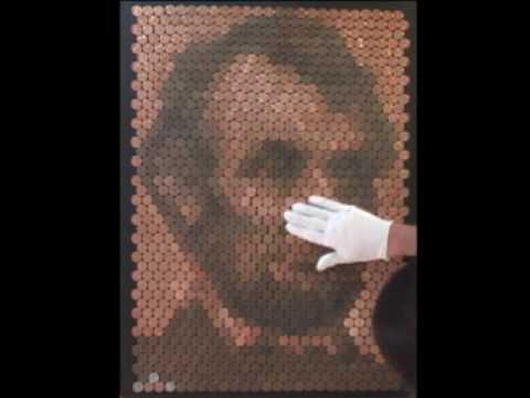Portret Abrahama Lincolna z groszy