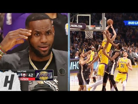 LeBron James in Shock After Alex Caruso's SICK Dunk - Warriors vs Lakers   April 4, 2019