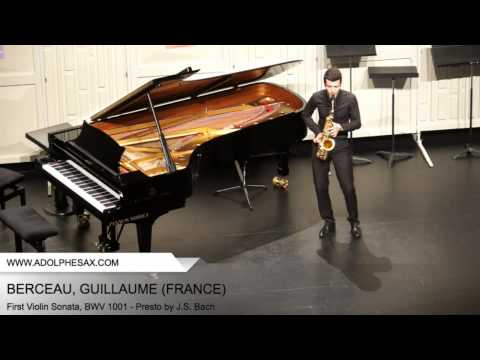 Dinant 2014 - BERCEAU Guillaume (First Violin Sonata, BWV 1001 - Presto by J.S. Bach)