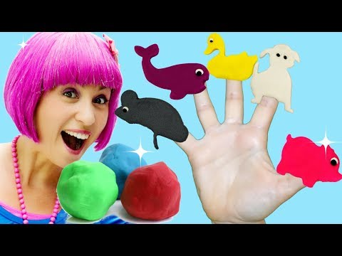 Daddy Finger Family Song - Five Finger Play Doh Animal Family | Rhymes For Children - Debbie Doo!
