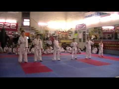 Экзамен по каратэ 24 ноября 2013 года в клубе Тигренок.ч.1