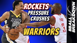 ROCKETS Pressure Crushes Warriors In Game 4