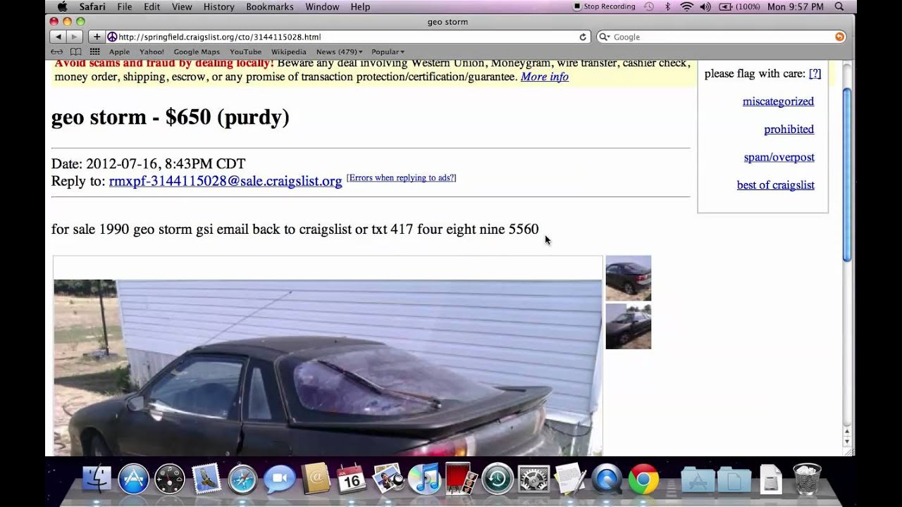 Used Cars For Sale Springfield Mo >> Craigslist Springfield Missouri Used Cars - For Sale by Owner Private Offers - YouTube