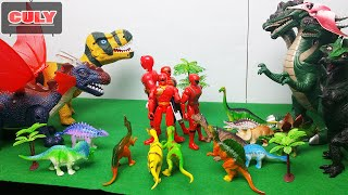 đồ chơi khủng long siêu nhân gao đỏ các loại - dinosaur toy red power ranger
