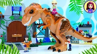 A Pet Dinosaur for the Lego Triplets  - Jurassic World T-Rex Breakout Juniors Set Build Silly Play