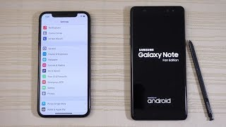 iPhone X vs Galaxy Note FE - Speed Test! (4K)