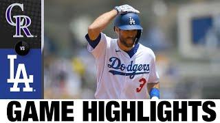 Rockies vs. Dodgers Highlights (7/25/21)   MLB Highlights