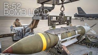 Loading JDAM Bombs Onto B-52 Strategic Bomber