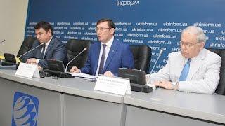 Брифинг Юрия Луценко и Артема Ситника