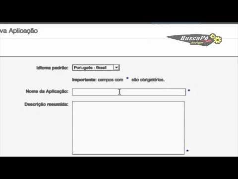Como cadastrar sua aplicação no BuscaPé e obter um application ID
