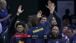 You Won't See A Weirder Overtime Ending Than Memphis Grizzlies vs. Houston Rockets