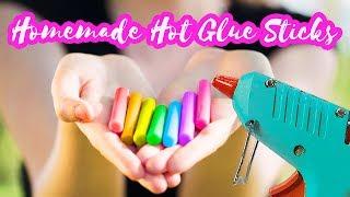 DIY Colorful Hot Glue Sticks Tutorial   How to make your own hot glue sticks   DIY Craft Tutorials