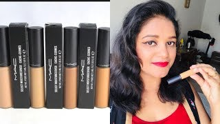 MAC MOISTURE COVER CONCEALER || DEMO & HINDI REVIEW || MAC COSMETICS