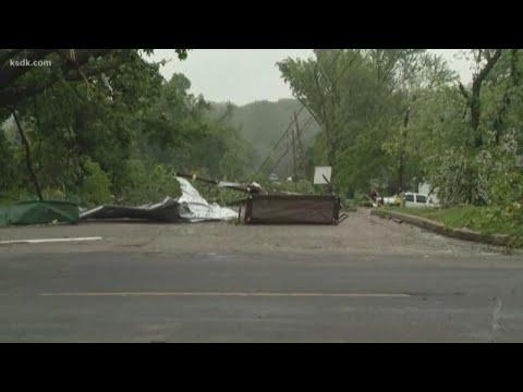 Major tornado damage in Jefferson City