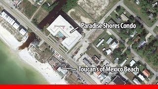 Toucan's Mexico Beach and Paradise Shores Before and After Photos Hurricane Michael