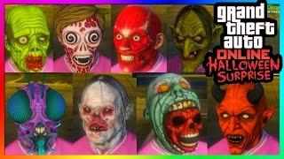 GTA 5 Online Halloween Surprise DLC - All NEW Masks! (GTA 5 Online Gameplay)