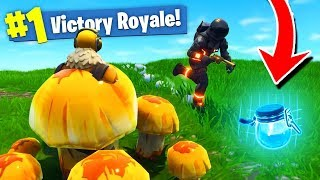SECRET MUSHROOM TROLLING in Fortnite: Battle Royale!