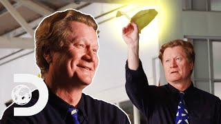 How John Collins Broke the Longest Paper Airplane Flight World Record | Ripley's Believe It Or Not!