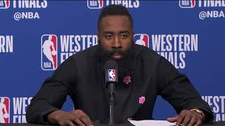 James Harden & Chris Paul Postgame Interview | Warriors vs Rockets Game 1