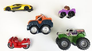 Learn Colors and Numbers Toy Cars Motorcycles Race Cars and Trucks