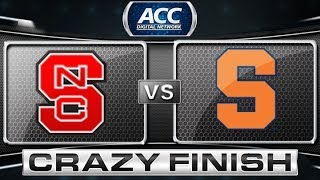 Crazy Finish During NC State vs Syracuse Game