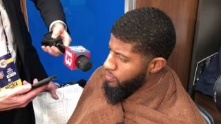 Paul George on his one-handed jam on Clint Capela