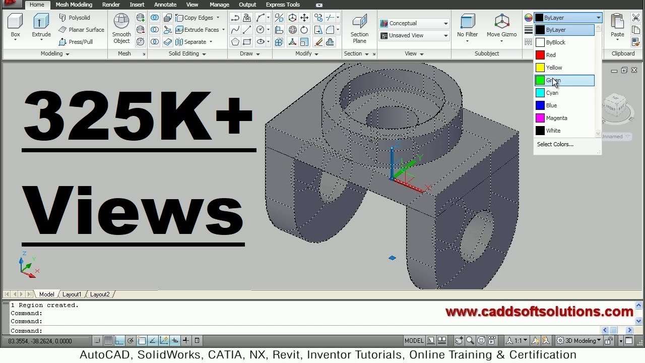 AutoCAD 3D Modeling Exercise Tutorial For Beginners