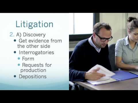 Introduction to Litigation, a Lawsuit, by a Lawyer