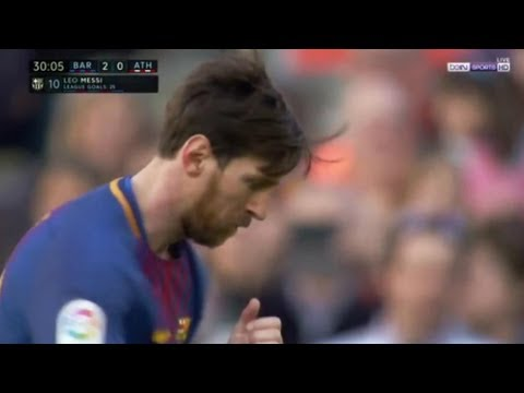 Xử lý một chạm cực đỉnh, Messi tung ra cú đá khét lẹt, xé lưới Bilbao