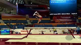 CHUSOVITINA Oksana (UZB) - 2018 Artistic Worlds, Doha (QAT) - Qualifications Balance Beam