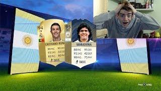 95 MARADONA + CRISTIANO RONALDO IN A PACK !!! TOP 5 BEST PACK OPENING! FIFA 18 ITA #96