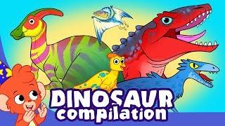 Learn Dinosaurs for Kids | Cute and Scary Dinosaur Cartoon videos | Club Baboo