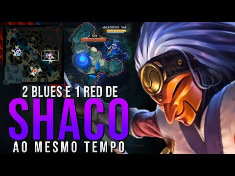 FIZ 2 BLUE E 1 RED AO MESMO TEMPO DE SHACO, ARRISCADO!