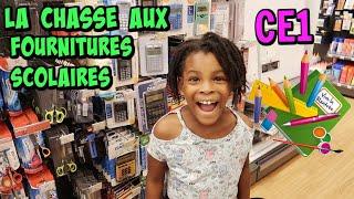 LA CHASSE AUX FOURNITURES SCOLAIRES rentrée au CE1 Back to school 2019