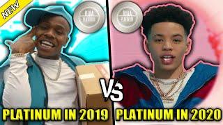 RAP SONGS THAT WENT PLATINUM IN 2019 VS RAP SONGS THAT WENT PLATINUM IN 2020