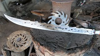 A NICE SWORD MADE FROM A MOTORCYCLE BRAKE DISC ROTOR