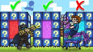 DO NOT Choose The WRONG FORTNITE LUCKY BLOCK PORTAL in Minecraft - Lucky Block Portal Mini-Game