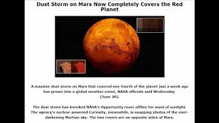 Dust Storm on Mars Now Completely Covers the Red Planet