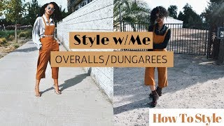 How To Style Overalls/ Style with Me    Grunge+Chic+Preppy