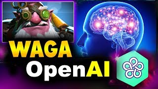 WAGA Stack vs OpenAI - AI vs HUMANS - 5TH WIN EVER! - AI BOT ARENA DOTA 2