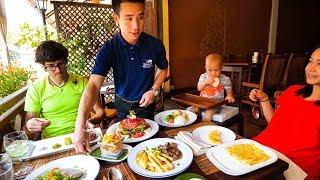 GOURMET French Food in Laos - BUFFALO STEAK TARTARE at L'Elephant in Luang Prabang!