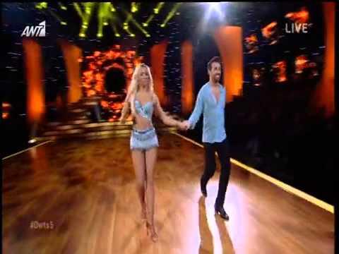 Θάνος Πετρέλης   Κλώντια Άννα Στόγια Η εμφάνιση στο όγδοο live του Dancing With The Stars 5