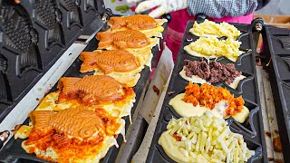 줄서서 먹는 피자 붕어빵!! 이건 못참지 #shorts│Fish-Shaped Pizza Bread– Korean Street Food