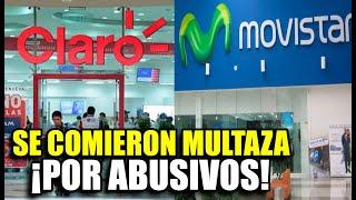 ¡BIEN HECHO! MOVISTAR Y CLARO SE COMIERON MILLONARIA MULTA DE OSIPTEL POR RECLAMOS DE SUS CLIENTES
