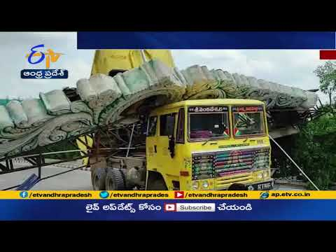 TTD Welcome Arch falls down as Lorry hits; leads to traffic jam