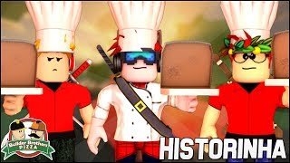 (Historinha 🎬) DEMOS UMA PIZZA ASSASSINA PARA O CHEFE 😱 | Work at a Pizza Place Roblox 🔮🍕