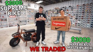 I Traded My Supreme Bike For A BOX LOGO MYSTERY BOX!