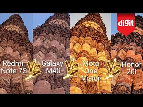 Camera Shootout: Redmi Note 7S vs Samsung Galaxy M40 vs Honor 20i vs Motorola One Vision