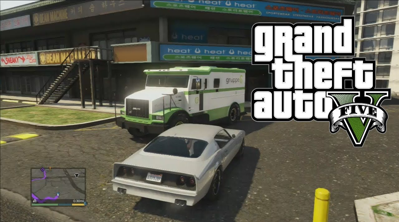 How To Make EASY Money in GTA 5 (Security truck Gruppe6 ...