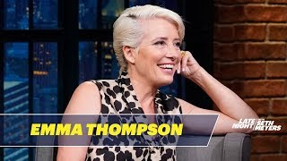 Emma Thompson Accepted Her Damehood for the Fancy Medal